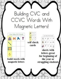 Cookie Sheet Fun: Making CVC and CCVC Words With Magnetic