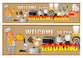 Cooking Area Banner, Cooking Area Signage, Cooking place,