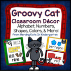 Cool Cat Themed Classroom Poster Bundle