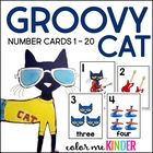 Groovy Cat Themed Number Cards 0-20