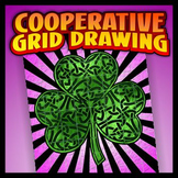Cooperative Coloring Grid - Knotted Shamrock