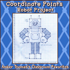 Coordinate Points and Ordered Pairs Robot Project
