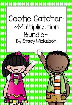 Cootie Catcher - Multiplication Set