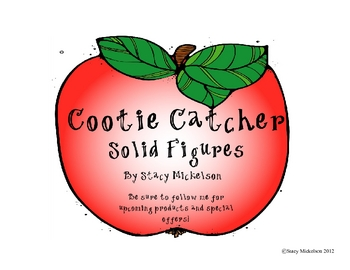 Cootie Catcher - Solid Figures