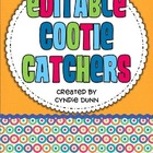 Cootie Catchers - Editable