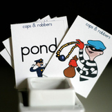 Cops and Robbers Rhyming Game and Skill Sheet (Words Their Way)