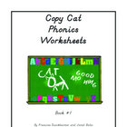 Copy Cat Phonics Worksheets - Book 1