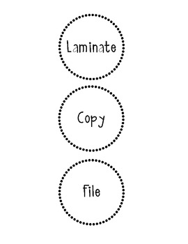 Copy, Laminate & File Labels