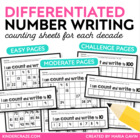 Count and Write to 120 (one decade at a time)