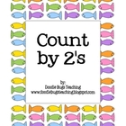 Count by 2's Fish Cards