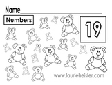 Count the bears math worksheets