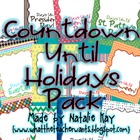 Countdown to Holidays Printables Pack