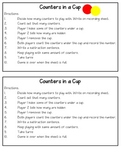 Counters in a Cup Math Game
