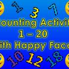 Counting 1 - 20 with Fun Animated Happy Faces