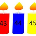 Counting Candles (3 colors) - Numbers & Words to 100