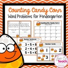 Counting Candy Corn: Word Problems for K-1st Grade