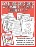 Counting Creatures 1-10 Number Workbook