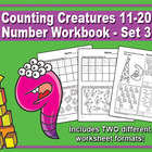 Counting Creatures 11-20 Number Workbook - Set 3