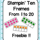 Counting Practice : Stamping Ten Frames to 20