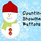 Counting Snowman Buttons Binder