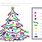 Counting Tree Ornaments {Shapes By Color}
