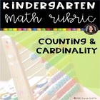 Counting and Cardinality Common Core Math Rubric Checklist