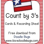 Counting by 3's Cards & Recording Sheet Math Center