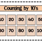Counting by Tens ( 10's ) Poster
