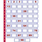 Counting to 100 - Missing Numbers File Folder Activity - E
