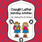 Cowgirl Letter Matching Activities