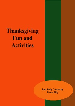 Craft Unit: Thanksgiving Fun Activity Unit