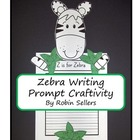 Craftivity: Zebra Writing Prompt