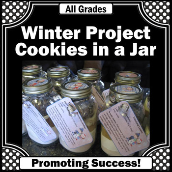 Winter Crafts Gifts in a Jar Cookies Recipe Gift for Teach