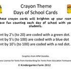 Crayon Box Count the Days of School cards