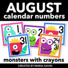Crayon Monsters Calendar Numbers