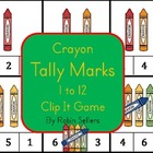 Crayon Tally Marks Numbers 1 to 12 Clip It Game