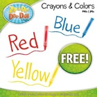 FREE Crayons with Scribbles & Color Word Callouts Clipart