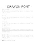 Crayons Font {Create Great Headings for Primary Grades}