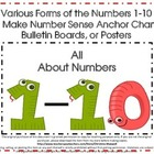 Create Number Sense Anchor Charts, Pocket Chart Pieces, Ce