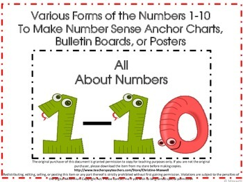 Create Number Sense Anchor Charts, Posters, or  Bulletin Boards