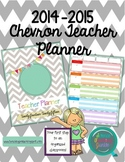 Create Your Own Teacher Planner or Binder (Chevron): 2014-2015