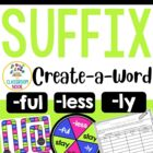 Create-a-Word Suffix Review Game (ly, less, ful)