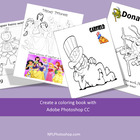Create a coloring book with Adobe Photoshop CS3, CS4, or CS5