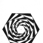 Create an Optical Illusion - A Spiraling Hexagon!