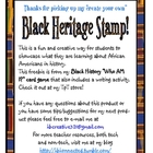 Create your Own Black Heritage Stamp... FREEBIE!