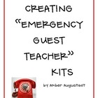 Creating Emergency Guest Teacher Kits