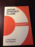 Creating the Opportunity to Learn -- Used Book