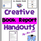 Creative Book Report Ideas/Handout for Students