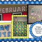 Creative Calendar Months Letters: A School Year of Monthly