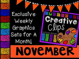 Creative Clips Club November {Creative Clips Digital Clipart}